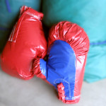 Boxing gloves Get ready to RUMBLE! These jumbo sized boxing gloves add hours of fun to your rental package. Great to use in any of our jumping tents or on their own.$30 /$55/$75 (4/6/8 hrs respectively) $30 /$55/$75(4/6/8 hrs respectively)