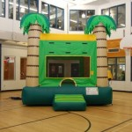Inflatable Bouncy Castles  Tropical Inflatable Bright colors and giant palm trees make this jumping tent a great choice for any tropical themed party. 