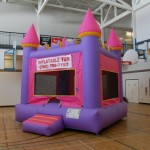 "Inflatable Bouncy Castles  Pink Princess Castle This pink castle jumpy tent is perfect for princesses of all ages. Polish your tiaras and get ready for a royal good time. Add on the King throne Chair for the ultimate ""Queen of the Day"" experience! 155/$170/$190 (4/6/8 hrs respectively) 13'(W) x 13'(L) x 14'(H)"