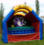 Mr. Party Ball toss An inflatable Junior Carnival Game. Knock the floating balls down to win! A great add on for any event. 