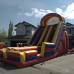Inflatable Rentals  The Super Slide Race your friends down this 24 foot super slide. With dual slides, this action packed inflatable provides hours of fun for any event. Great for ages 4 and up – yes adults love it too!