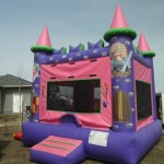 Inflatable Rentals  DisneyPrincessCastle Amusthaveforanyprincessthemedparty. Get ready to jump and frolic with your favorite Disney Princess in this royal jumpy castle. $155/$175/$195(4/6/8 hrs respectively) 13'(W) x 13'(L) x 14'(H)